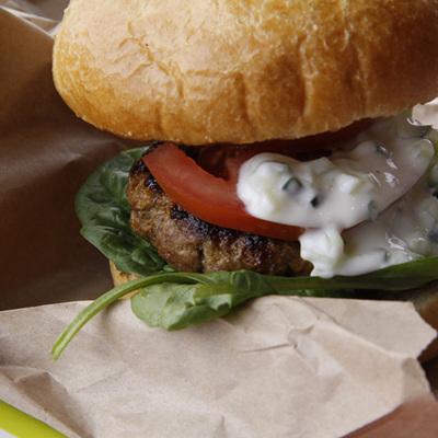 Gourmet Tomato & Tamarind Lamb Burger