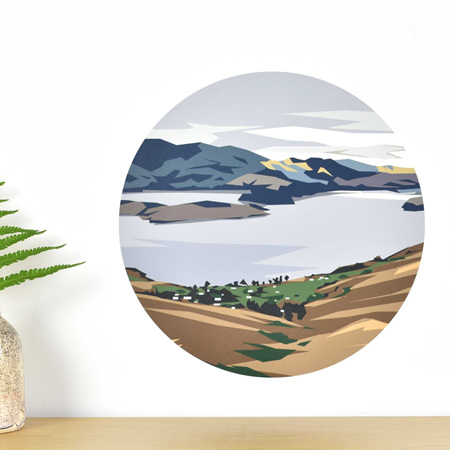 Governors Bay wall decal dot