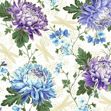 Graceful Garden Hydrangea White/Gold S7730-222G
