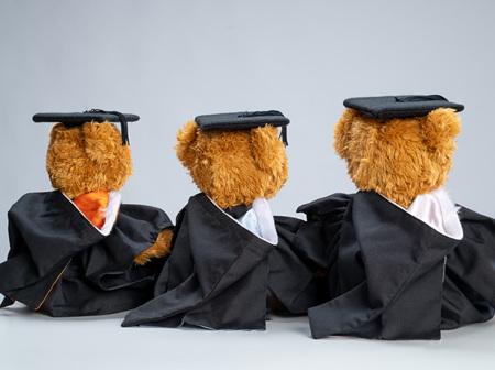 Graduation Bear Hood (Hood Only)