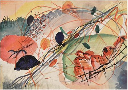 Grafika 1000 Piece Jigsaw Puzzle: Kandinsky :  Aquarell 6, Kunstdrucke