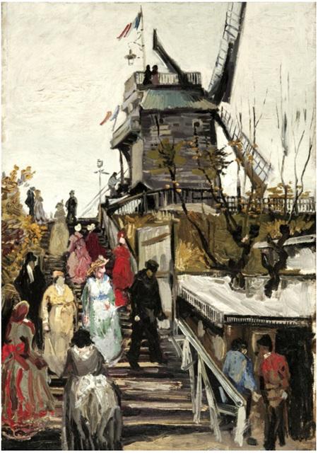 Grafika 1000 Piece Jigsaw Puzzle: Van Gogh : Le Moulin de Blute-Fin, 1886