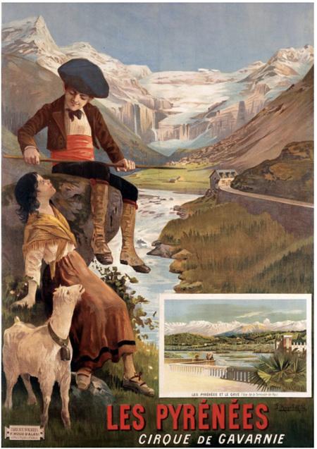 Grafika 1000 Piece Jigsaw Puzzle: Vintage Poster - Pyrenees