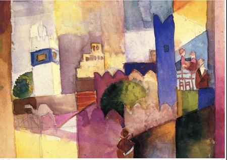 Grafika 1000 Piece Jigsaw Puzzle:August Macke: Kairouan (III), 1914