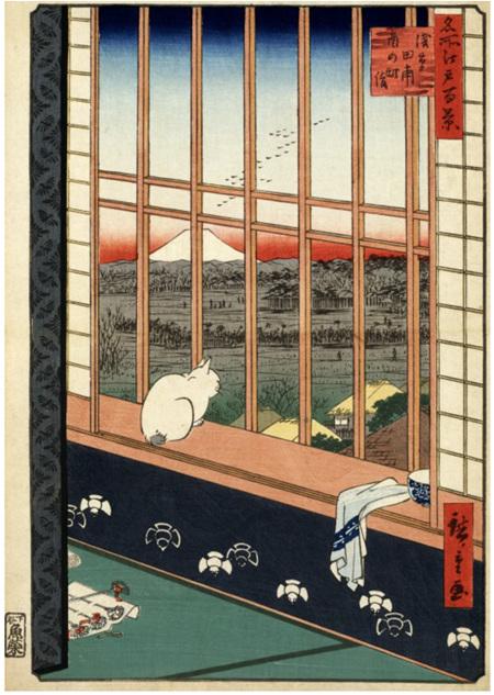 Grafika 1000 Piece Jigsaw Puzzle:Utagawa Hiroshige : Asakusa Ricefields and Torinomachi Festival