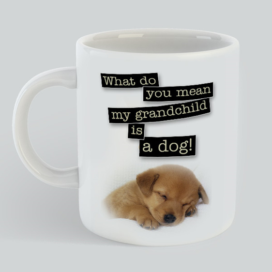 Grandchild Dog mug