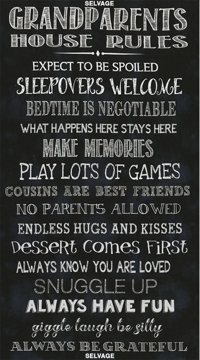 Granparents House Rules Panel