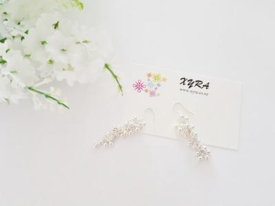 Grape-like earrings