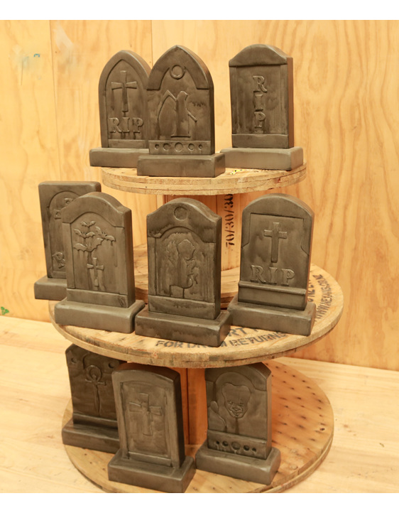 gravestone centerpiece hire