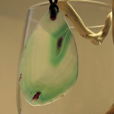 PS16 Green Agate pendant