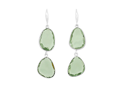 Green Amethyst Drop Earrings