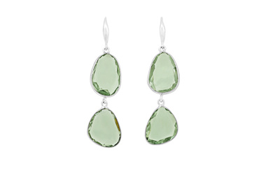 Green Amethyst Drop Earrings