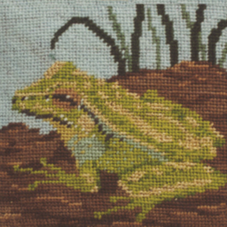 Green and Gold Bell Frog Needlepoint Kit