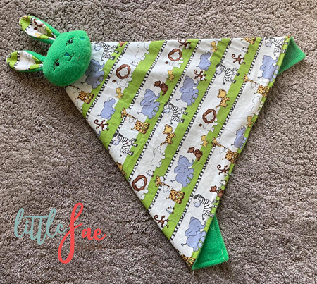 Green Animal Bunny Snuggle Blanket