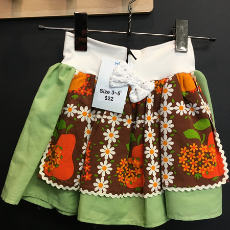 Green Aproned Skirt Size 3-5