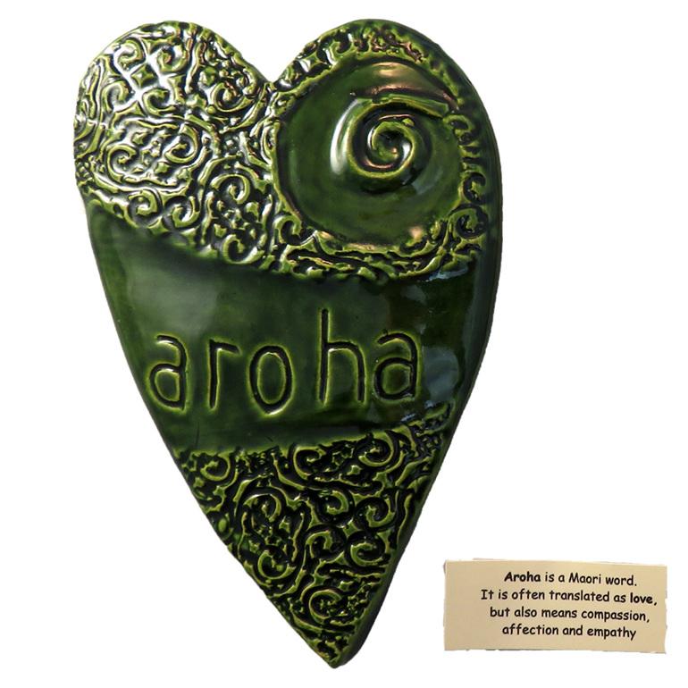 green aroha wall art