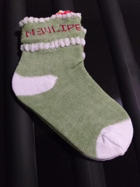 Green Baby sock - 6-12 months