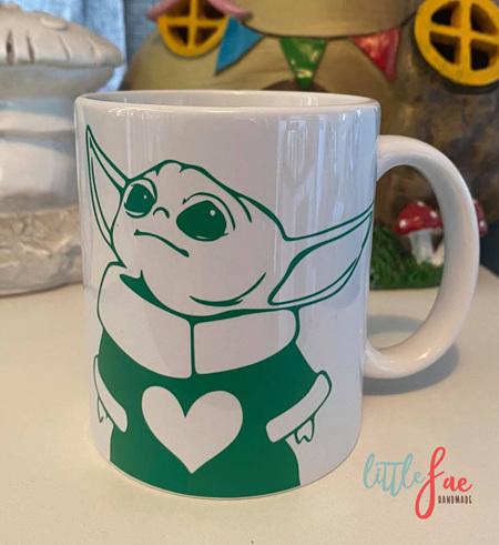 Green Baby Yoda Mug