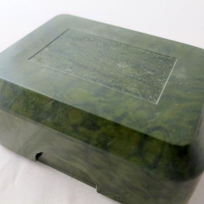Green bakelite soap box