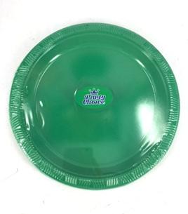 """Green - BBQ Plates x 10 7"""""""