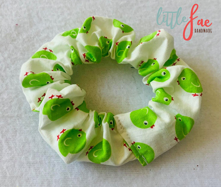 Green Bird Scrunchie