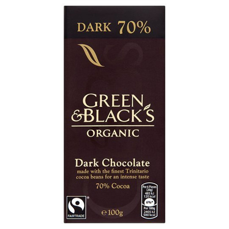 Green & Blacks Organic Chocolate Bars 100g
