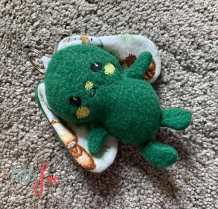 Green Bunny Keyring