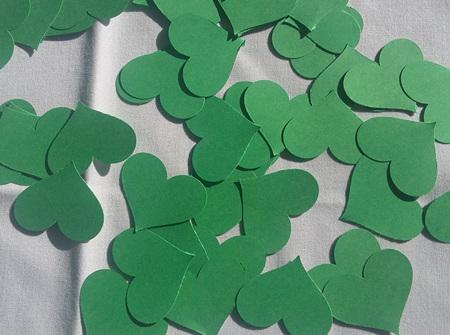 Green card hearts