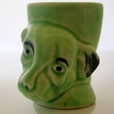 Green dog
