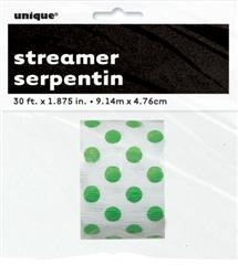 Green Dots 9.1m Streamer
