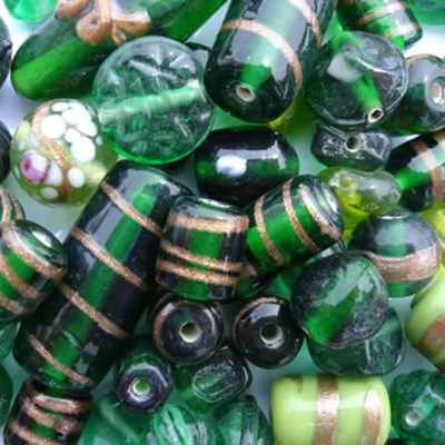 Green Fancy Bead Mix