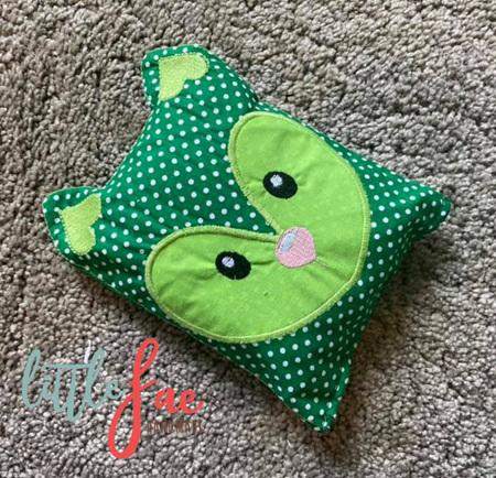 Green Fox Animal Wheat Bag