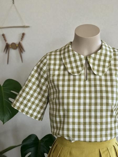 Green gingham Brigit shirt