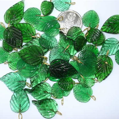 Green Glass Leaves