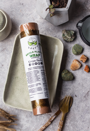 Green Herb Flavoured Wrapt