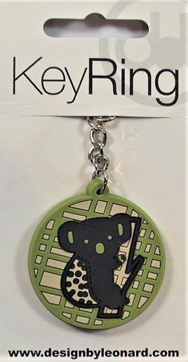 Green Koala Keyring