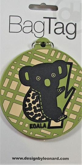 Green Koala Luggage Tag