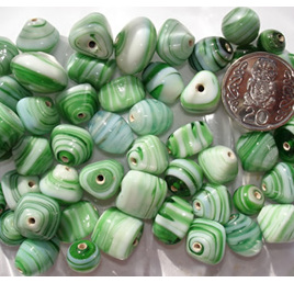 Green Marble Bead Mix