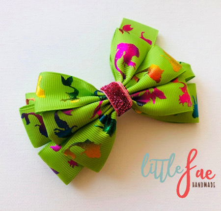 Green Mermaid Hair Bow Clip