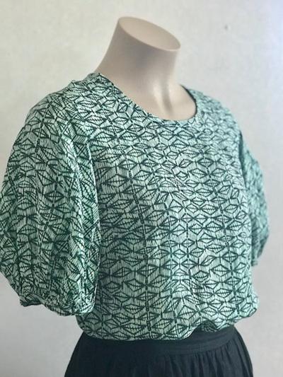 Green Ophelia blouse