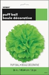 Green Puff Ball Decor - 40cm