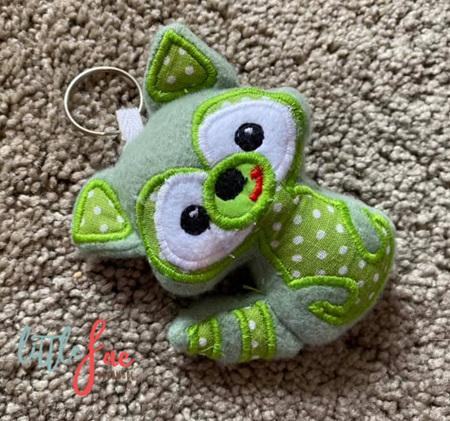 Green Racoon Keyring