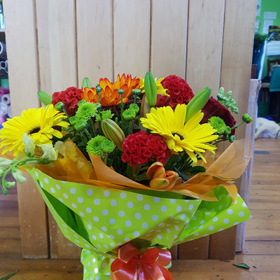 Green, Red and Yellow Bouquet