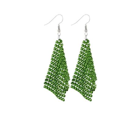 GREEN Sequin Elegant Earrings