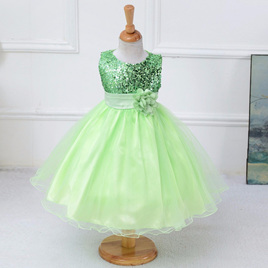 Green Sequined Party Dress - Size 4