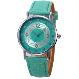 Green Silver Spot Watch