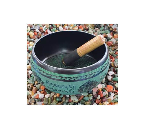 Green Singing Bowl 21cm