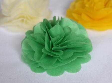 Green tissue flowers