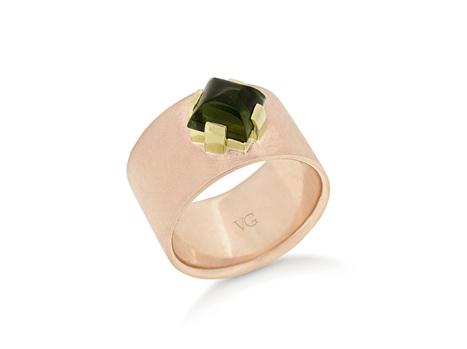 Green Tourmaline Dress Ring