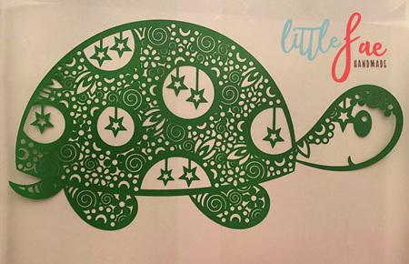 Green Turtle Doodle Heat Press Vinyl
